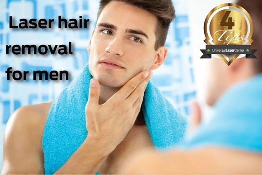 Laser Hair Removal for men on face, back and legs